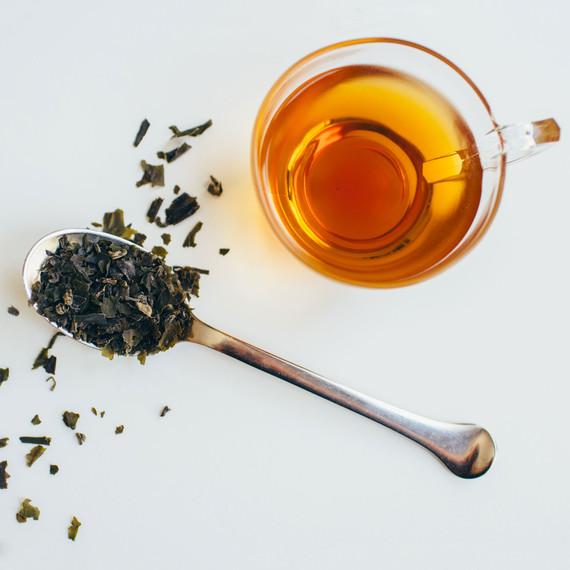 cup of sea seaweed tea