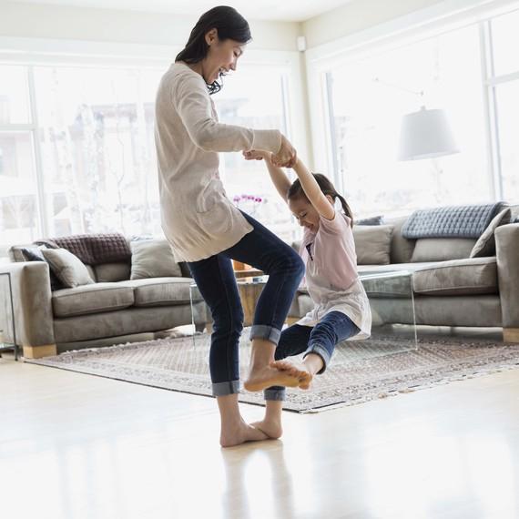 dancing play mother daughter