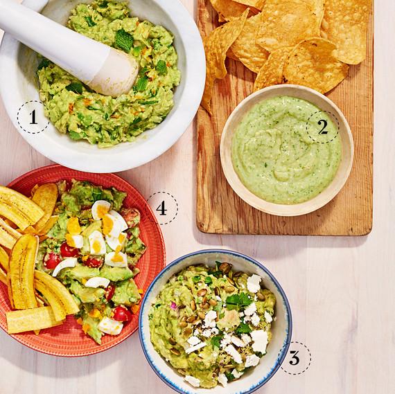 guacamole four ways
