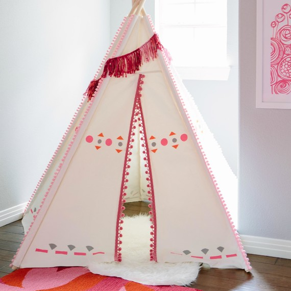 DIY Painted Teepee