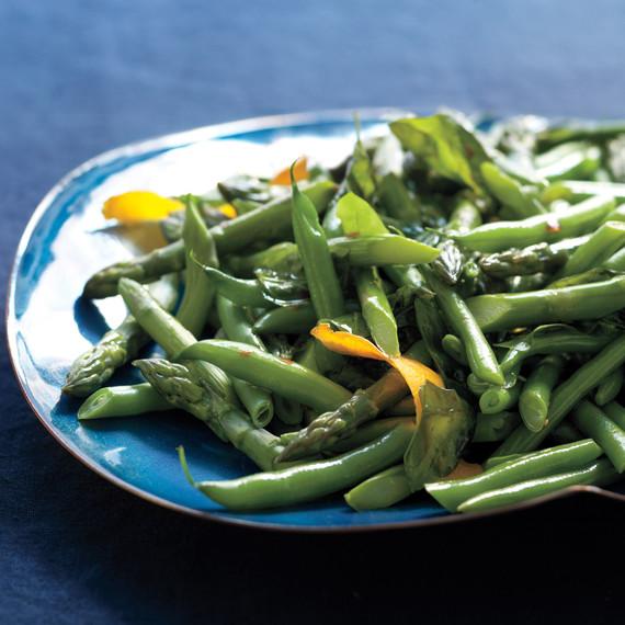 green beans asparagus