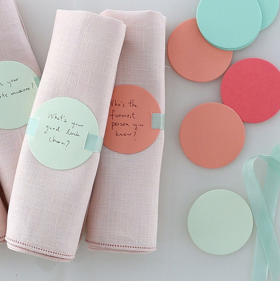 napkin ring conversation starters
