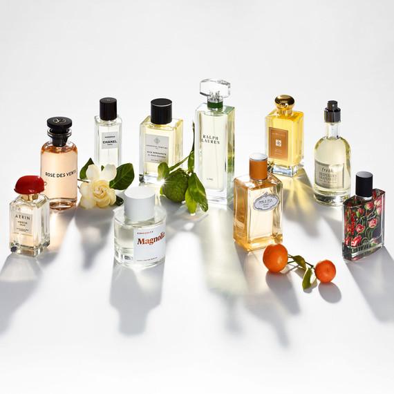 perfume bottles ralph lauren prada essentials