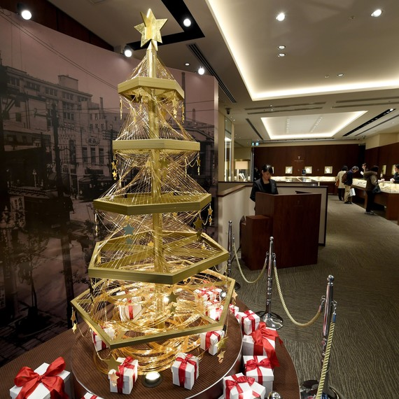 pure gold wire Christmas tree