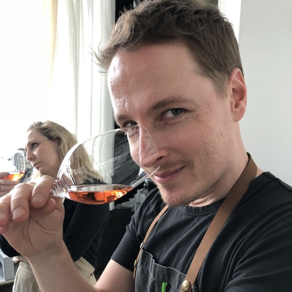 Greg at Moet rosé champagne tasting