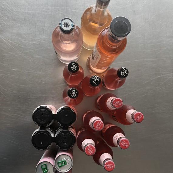 rosé liquor