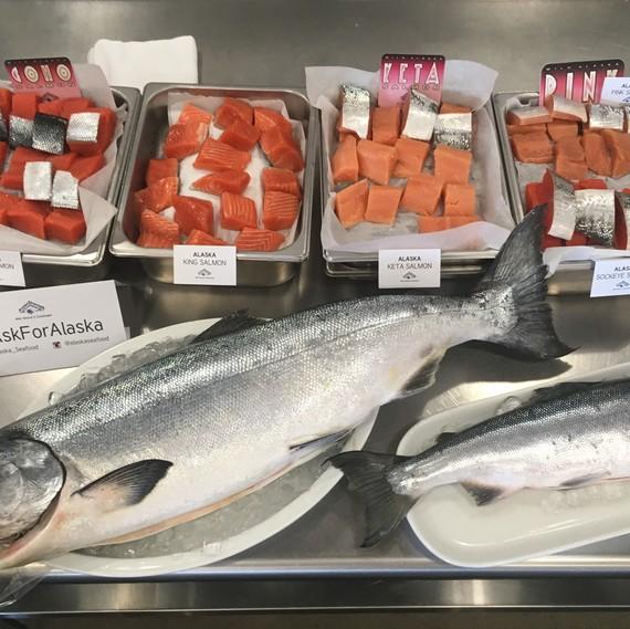 salmon varieties at tasting
