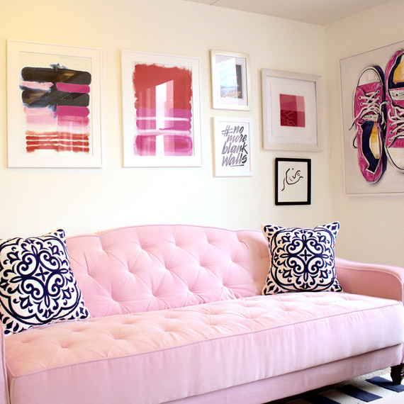 adore your walls pink office couch