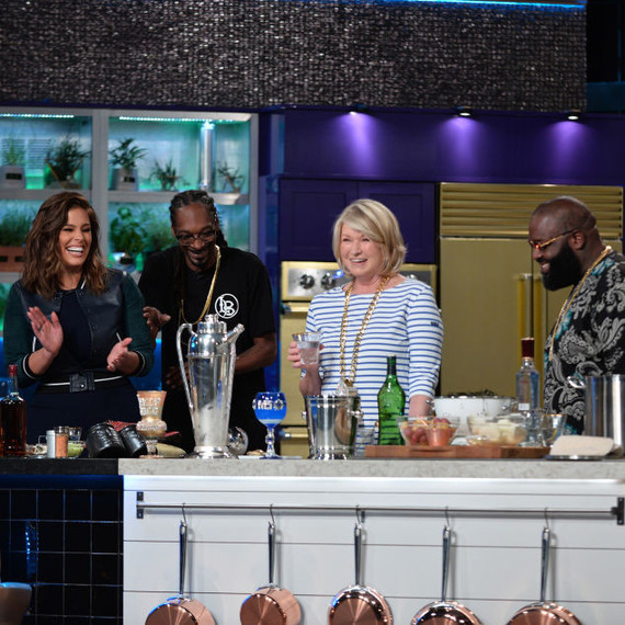 Martha and Snoop with Ashley Graham and Rick Ross on episode 102