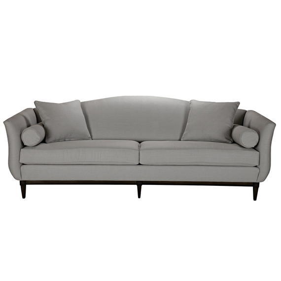 grey camelback sofa
