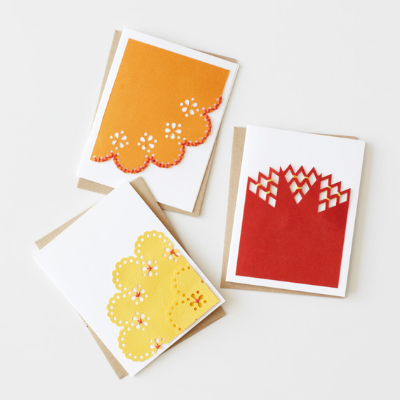 Lacy Stitched Note Cards