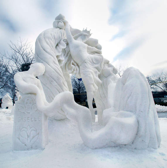ice and snow sculpture