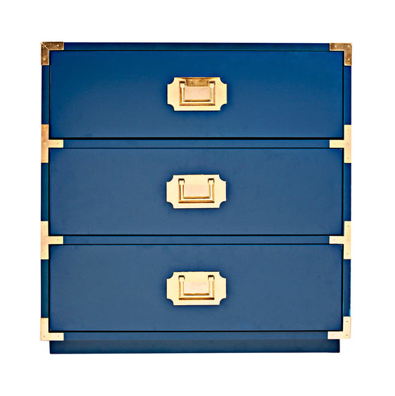 Attrayant Lacquer Blue Wood Drawers