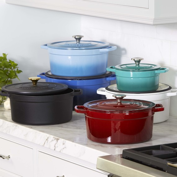 assortment of cookware on counter