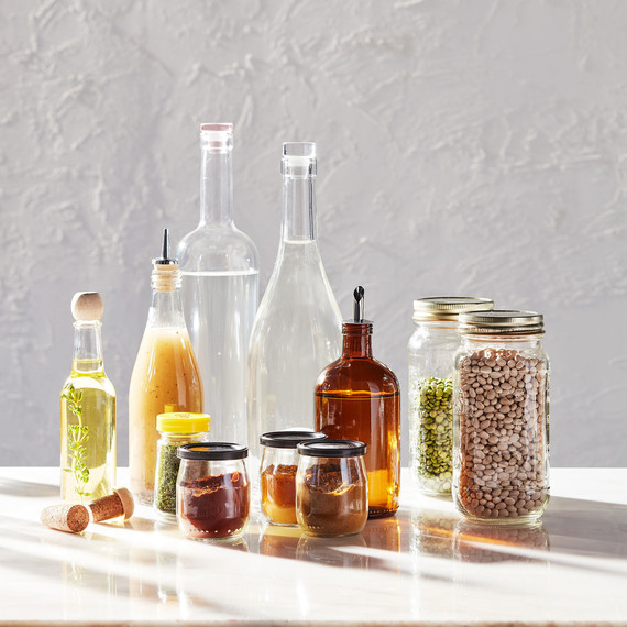 reusable glass containers