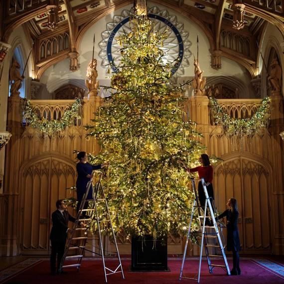 Christmas Parties In Windsor: See Queen Elizabeth's Christmas Tree At Windsor Castle