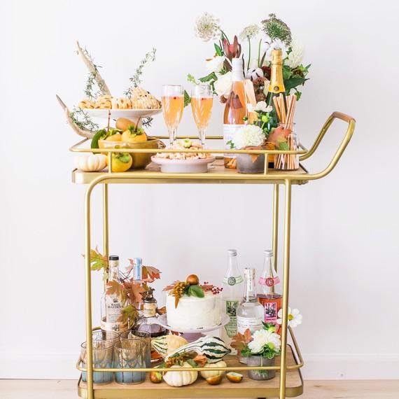 thanksgiving bar cart