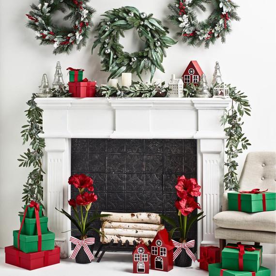 martha stewart collection holiday mantel decor
