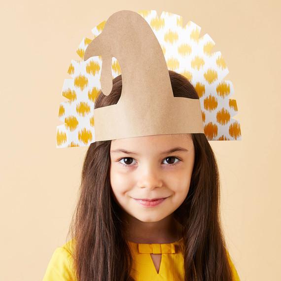 paper turkey hat thanksgiving craft