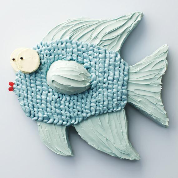 green fish sheet cake