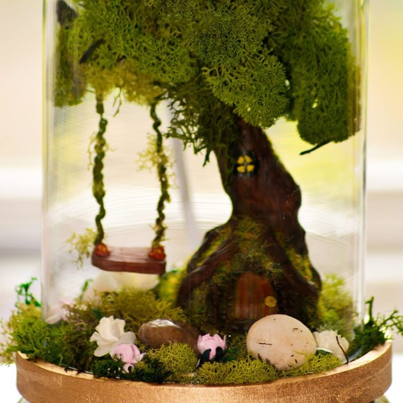 Peek Inside: This Magical Fairy Garden Also Functions as a Lamp