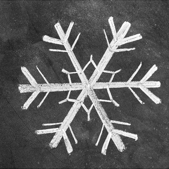How to draw 3 snowflakes for a hand lettered chalk art for Snowflake template martha stewart