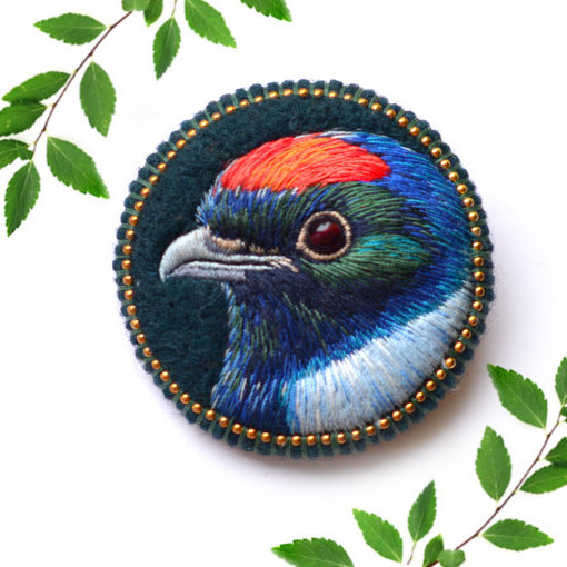 colorful bird by paulina bartnik