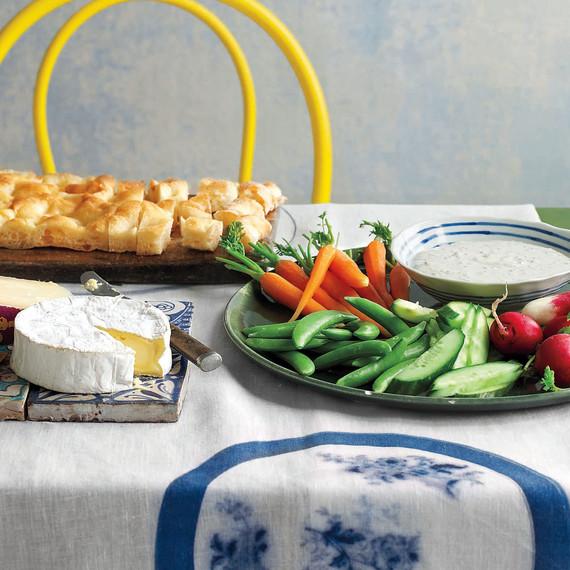 easter appetizer table