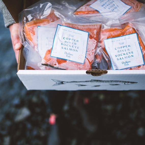 frozen salmon drifters fish