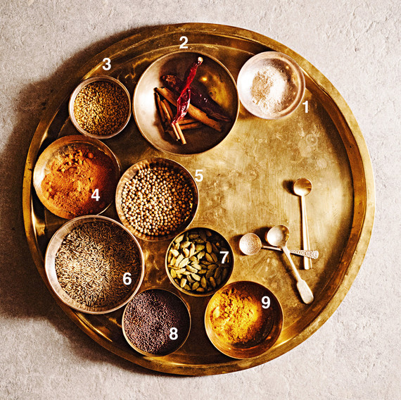 indian spices numbered