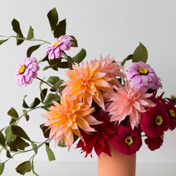 Dahlia arrangement by Jennifer Tran