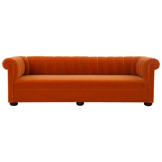 orange chesterfield sofa