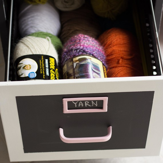 File Cabinet Yarn Storage