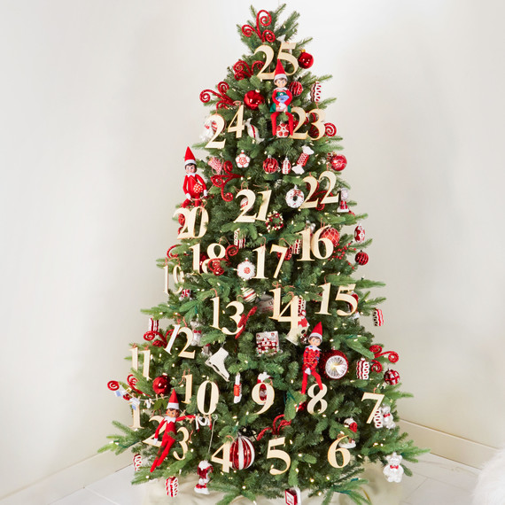 christmas tree with elves - Elf Christmas Decorations