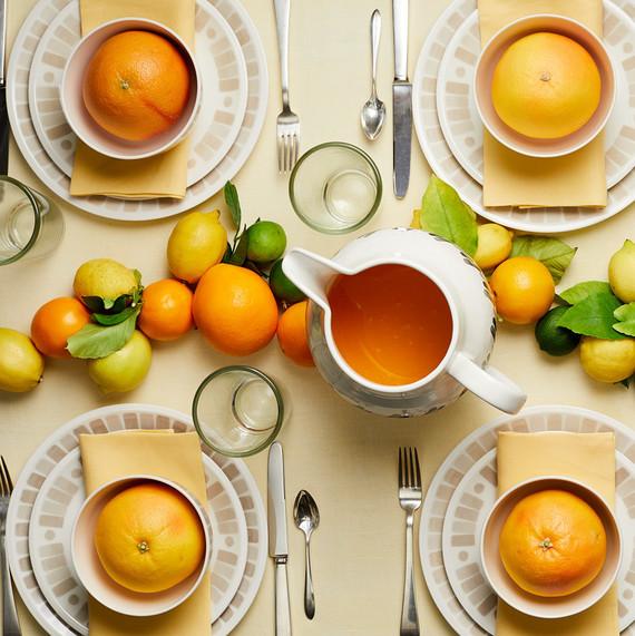 heirloom macys tablesetting gray white citrus