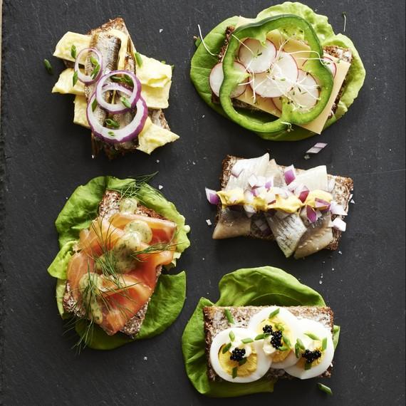 Danish Open Faced Sandwiches (Smørrebrød)