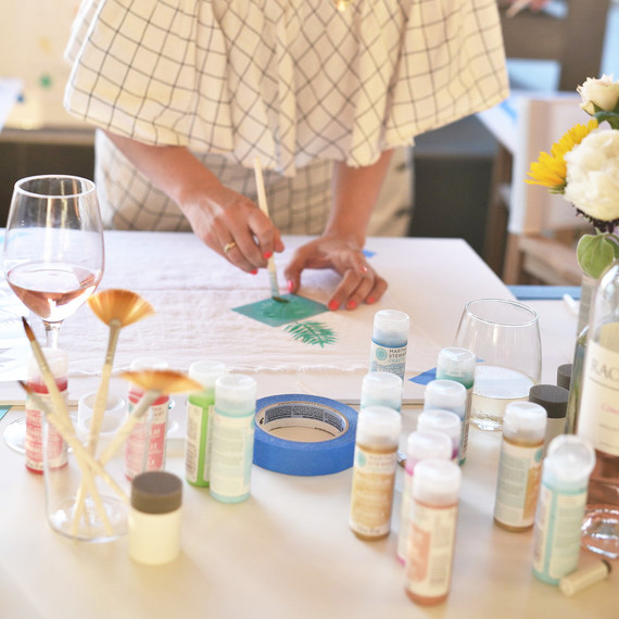 martha crafts wine and paint party