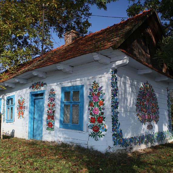 zalipie poland floral houses