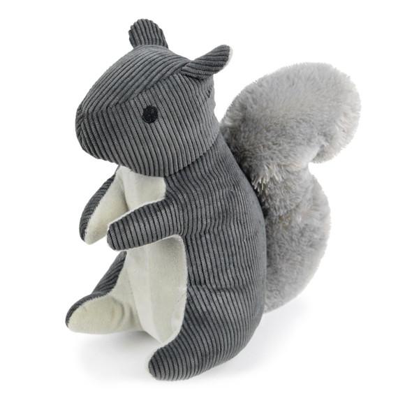 gray squirrel dog toy