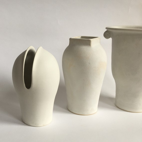 clam lab white vases ceramics