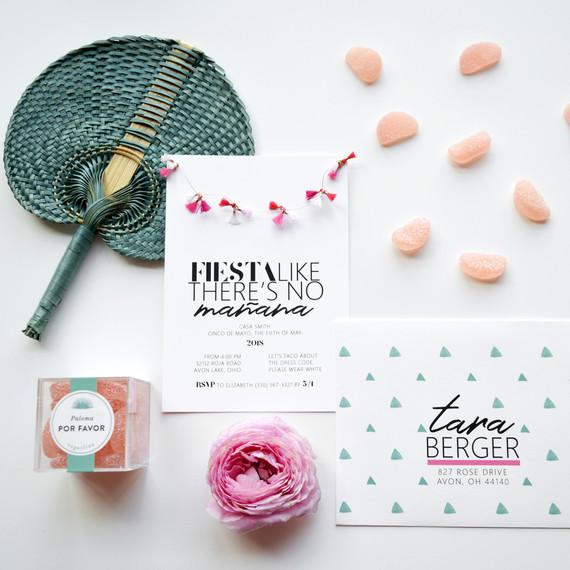 cinco de mayo floral fiesta invitations