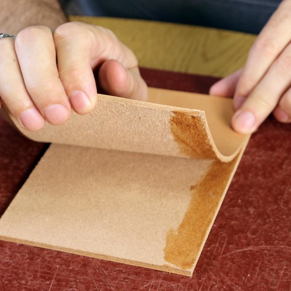 Use Rubber Cement To Hold Leather In Place