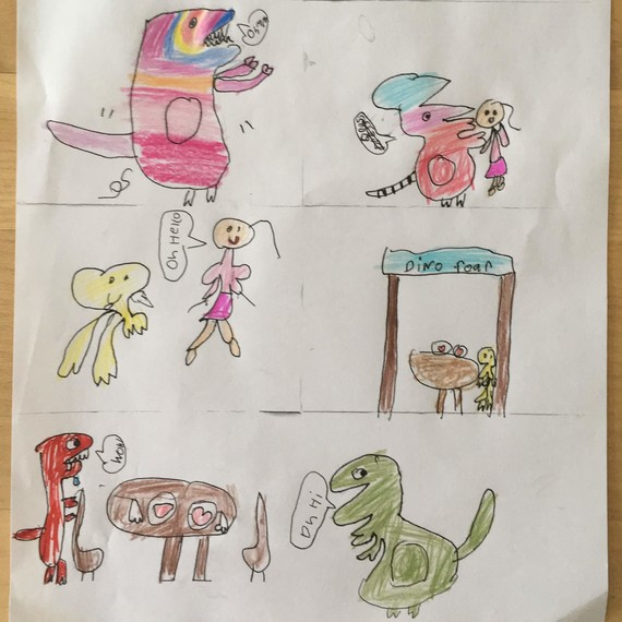 miya dinosaur drawings