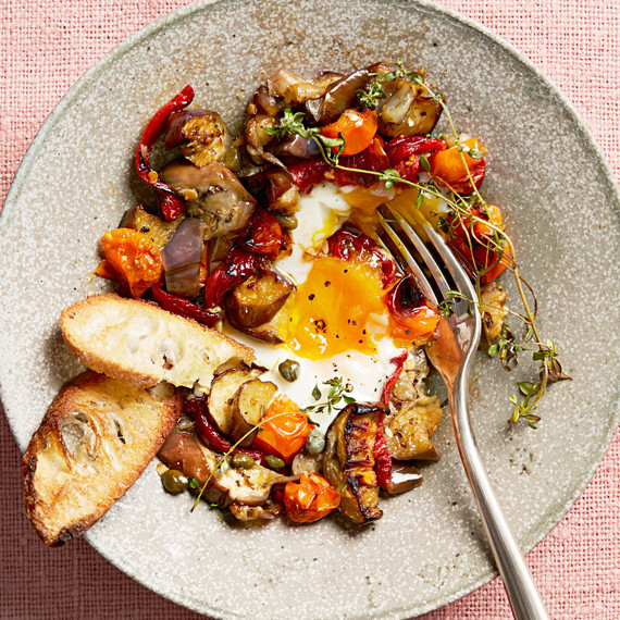 Roasted Ratatouille and Eggs
