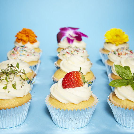 3. Herbs and Fresh Fruit : easy spring cupcake decorating ideas - www.pureclipart.com
