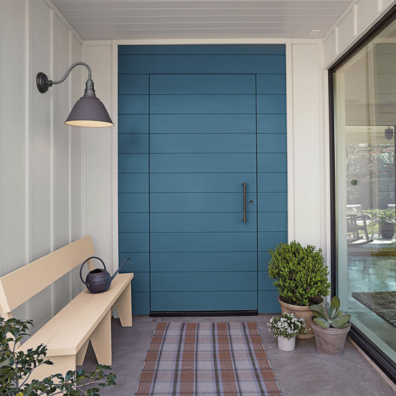 behr blue paint front door