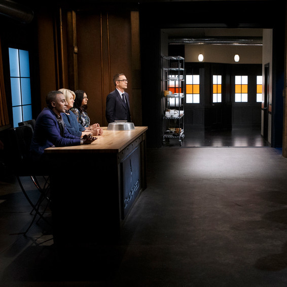 four chefs face judges on chopped
