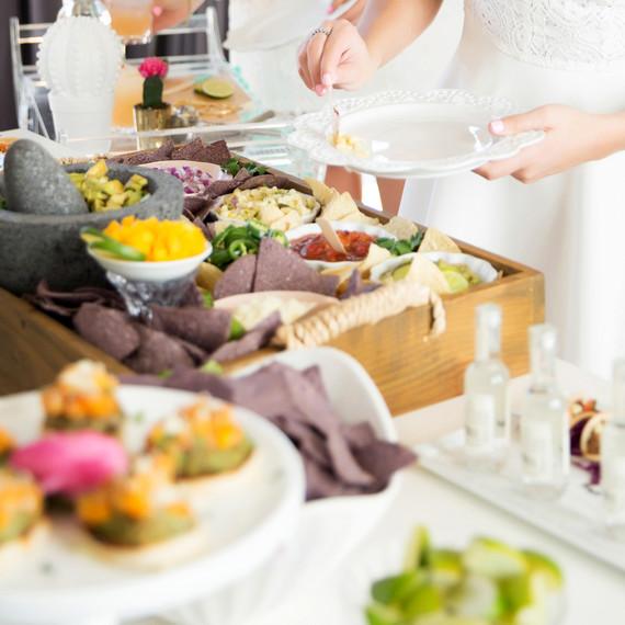 cinco de mayo floral fiesta tacos food buffet