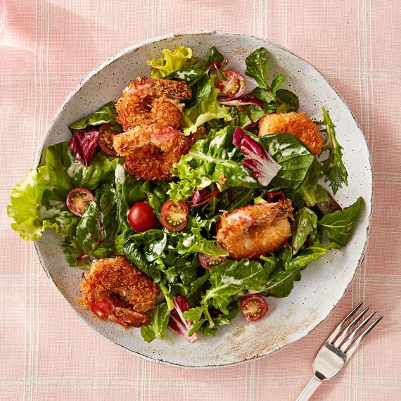 Crispy Panko Shrimp Salad