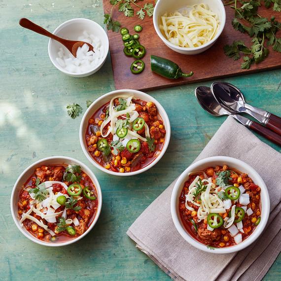 instant-pot turkey chili and add-ins